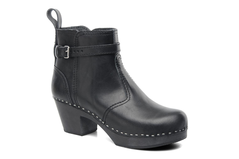 Boots en enkellaarsjes Swedish Hasbeens Jodhpur Zwart detail
