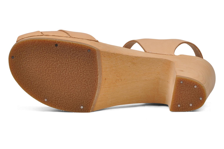 Sandales et nu-pieds Swedish Hasbeens Peep toe super high Beige vue haut
