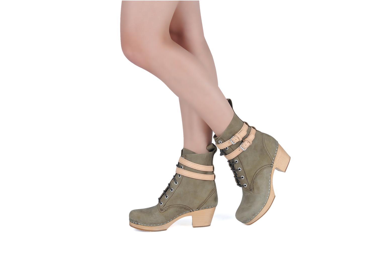 Bottines et boots Swedish Hasbeens Combat boot Gris vue bas / vue portée sac