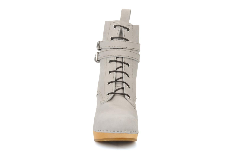 Bottines et boots Swedish Hasbeens Combat boot Gris vue portées chaussures