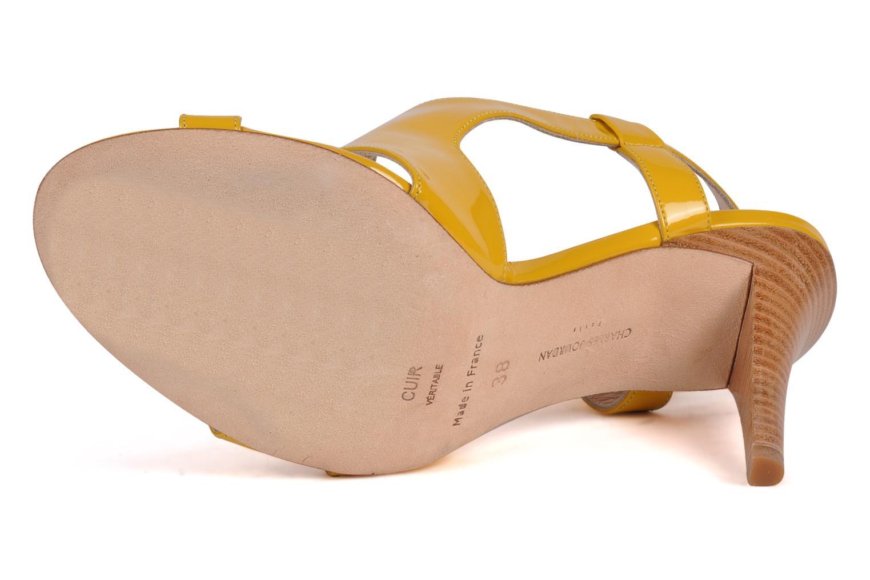 Sandali e scarpe aperte Charles Jourdan Pulpfiction Giallo immagine dall'alto