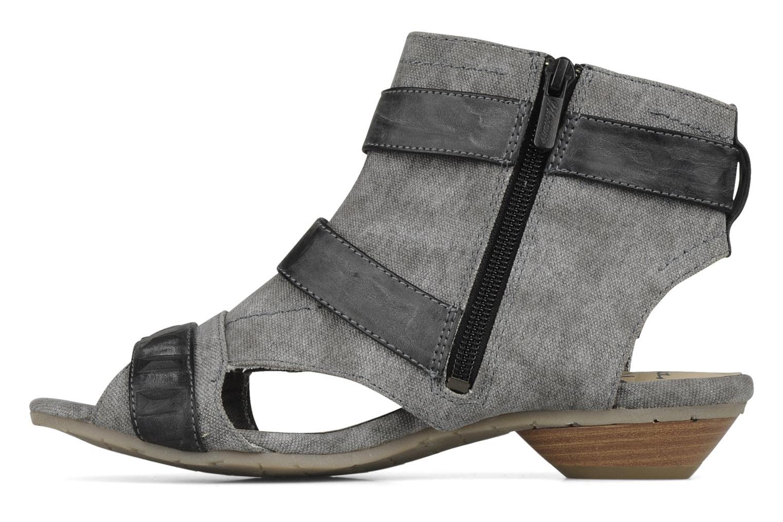 Sandalen Mustang shoes Xeba grau ansicht von vorne