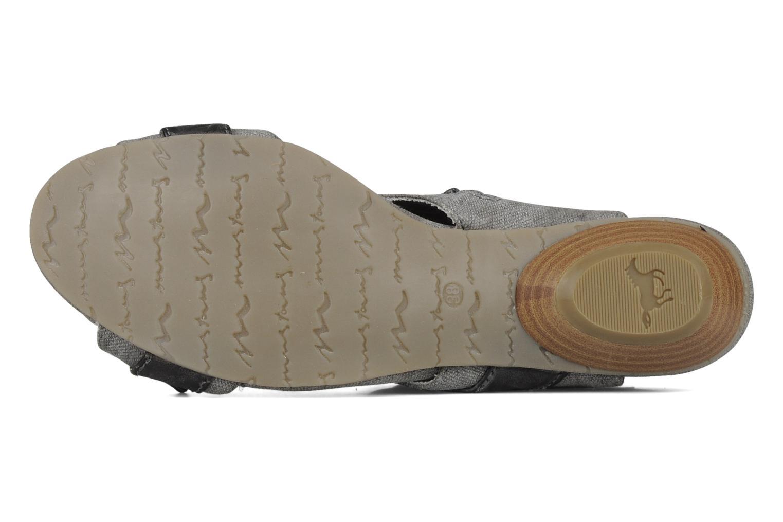 Sandalen Mustang shoes Xeba grau ansicht von oben