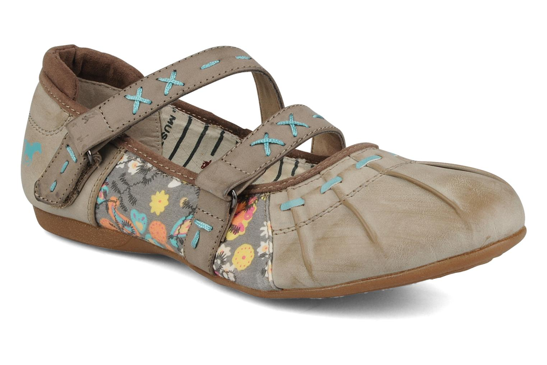 Ballerina's Mustang shoes Sorraia Beige detail