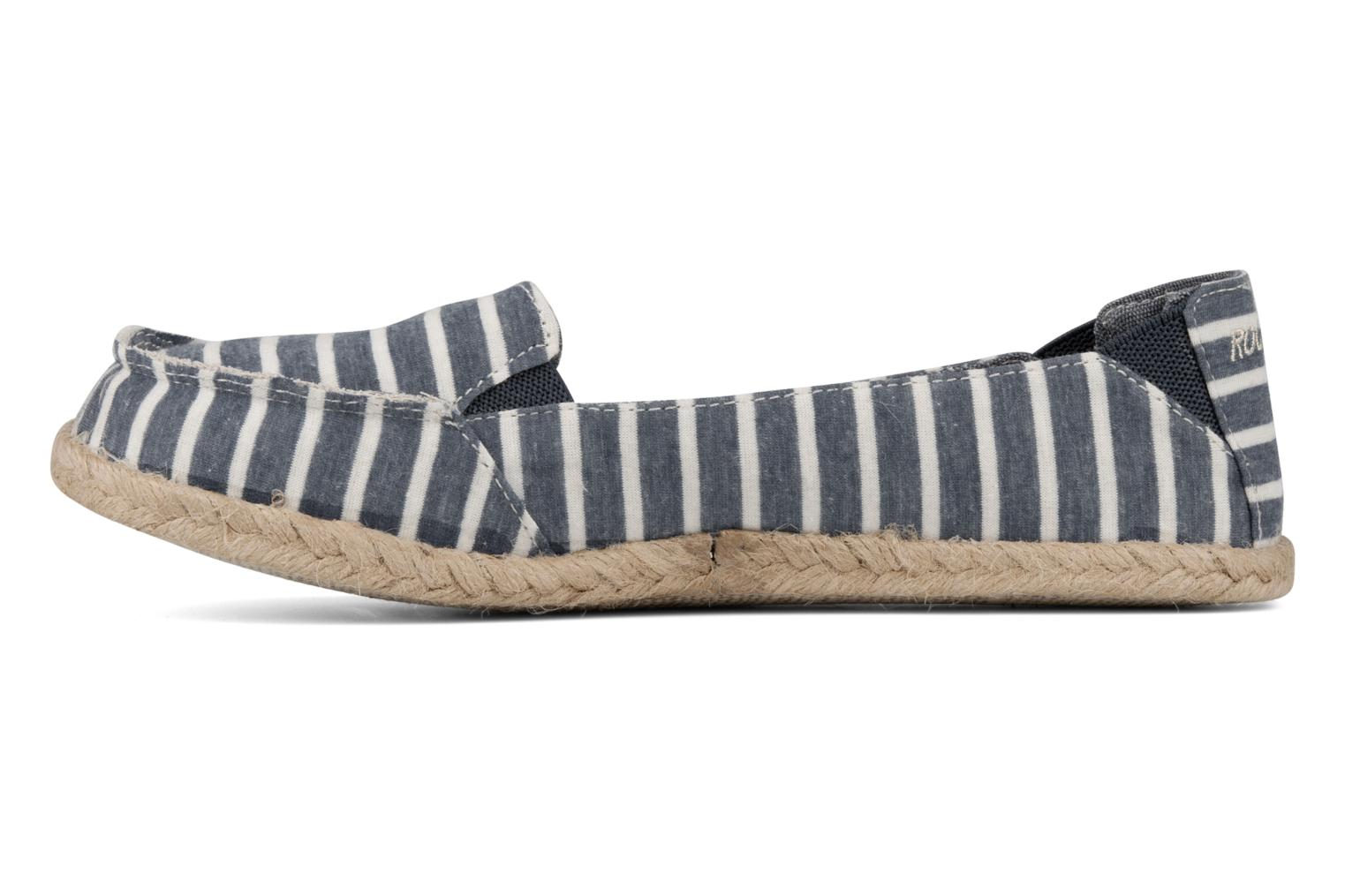 Espadrilles Rocket Dog Clover seaside stripe Blue front view