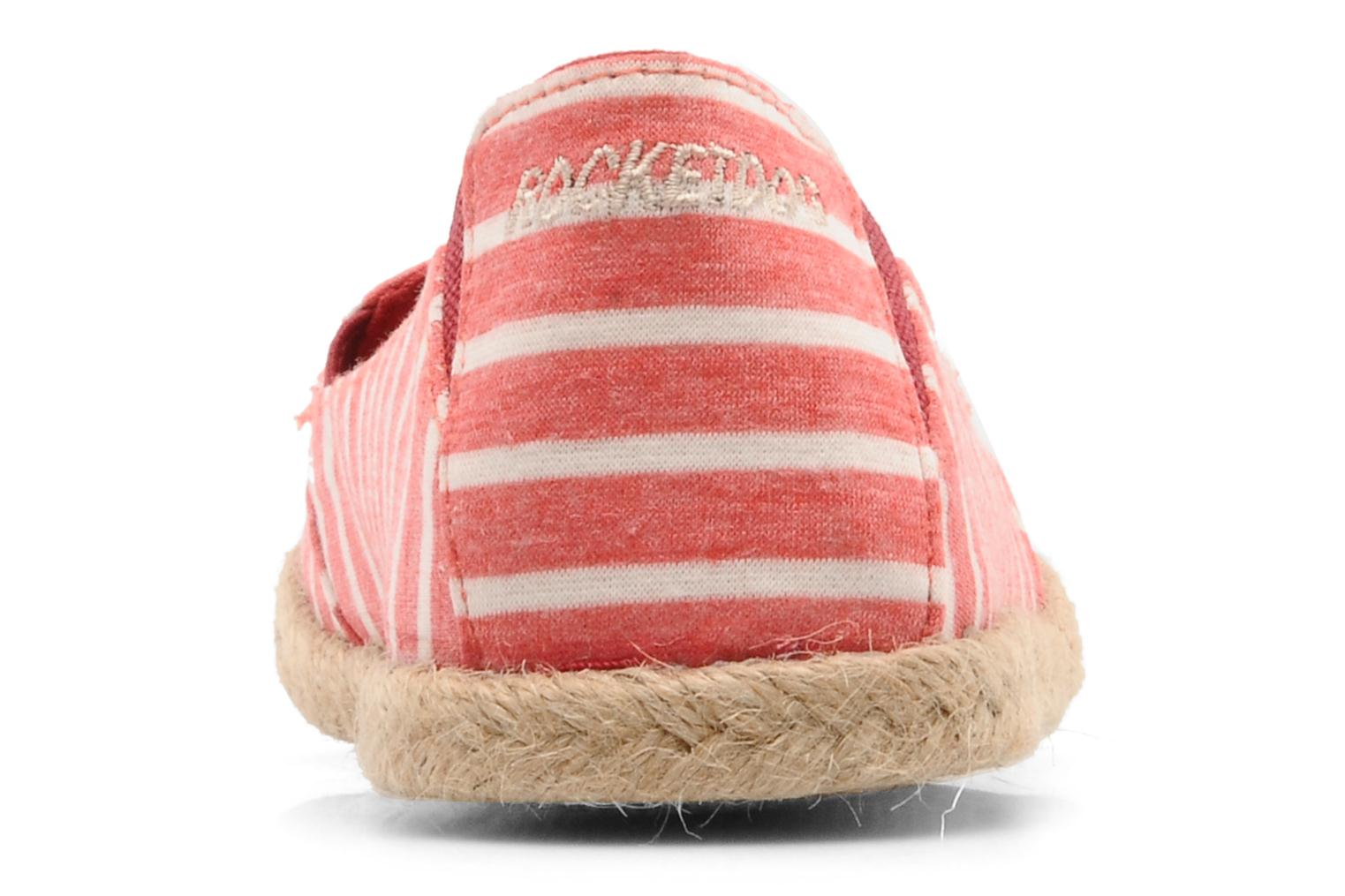 Espadrilles Rocket Dog Clover seaside stripe Red view from the right