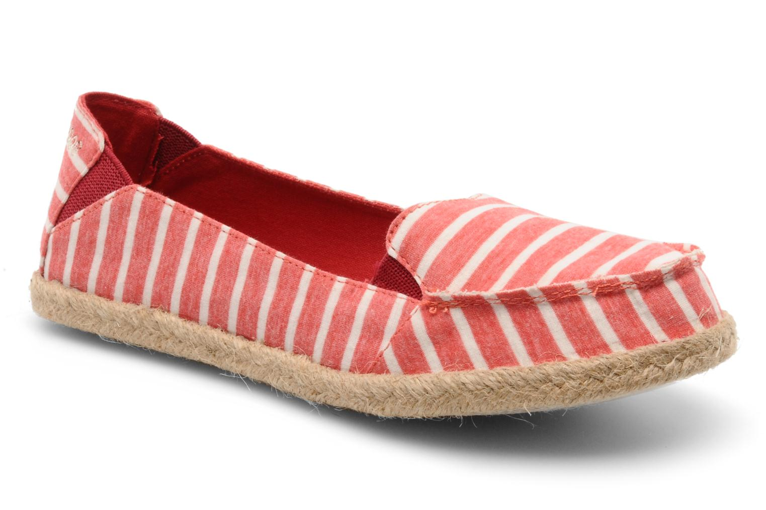 Espadrilles Rocket Dog Clover seaside stripe Rood detail