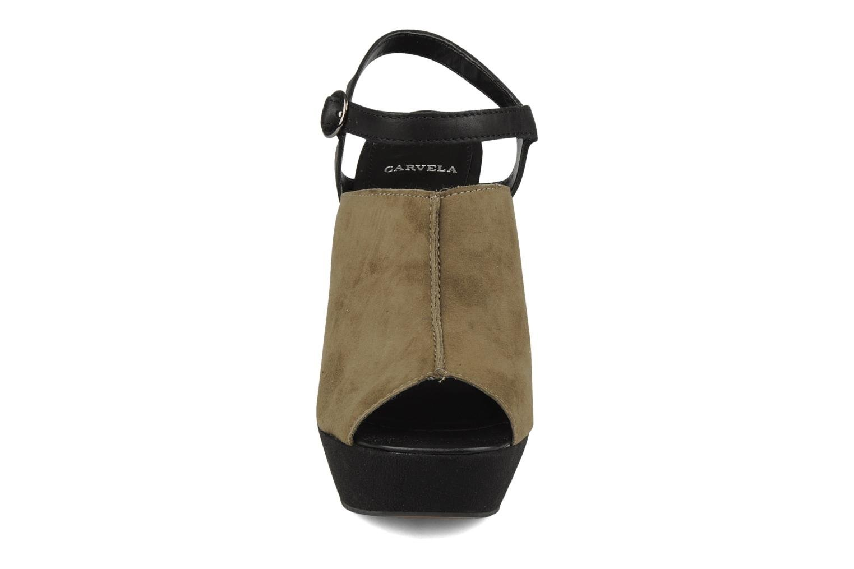 Sandales et nu-pieds Carvela Acoustic Vert vue portées chaussures