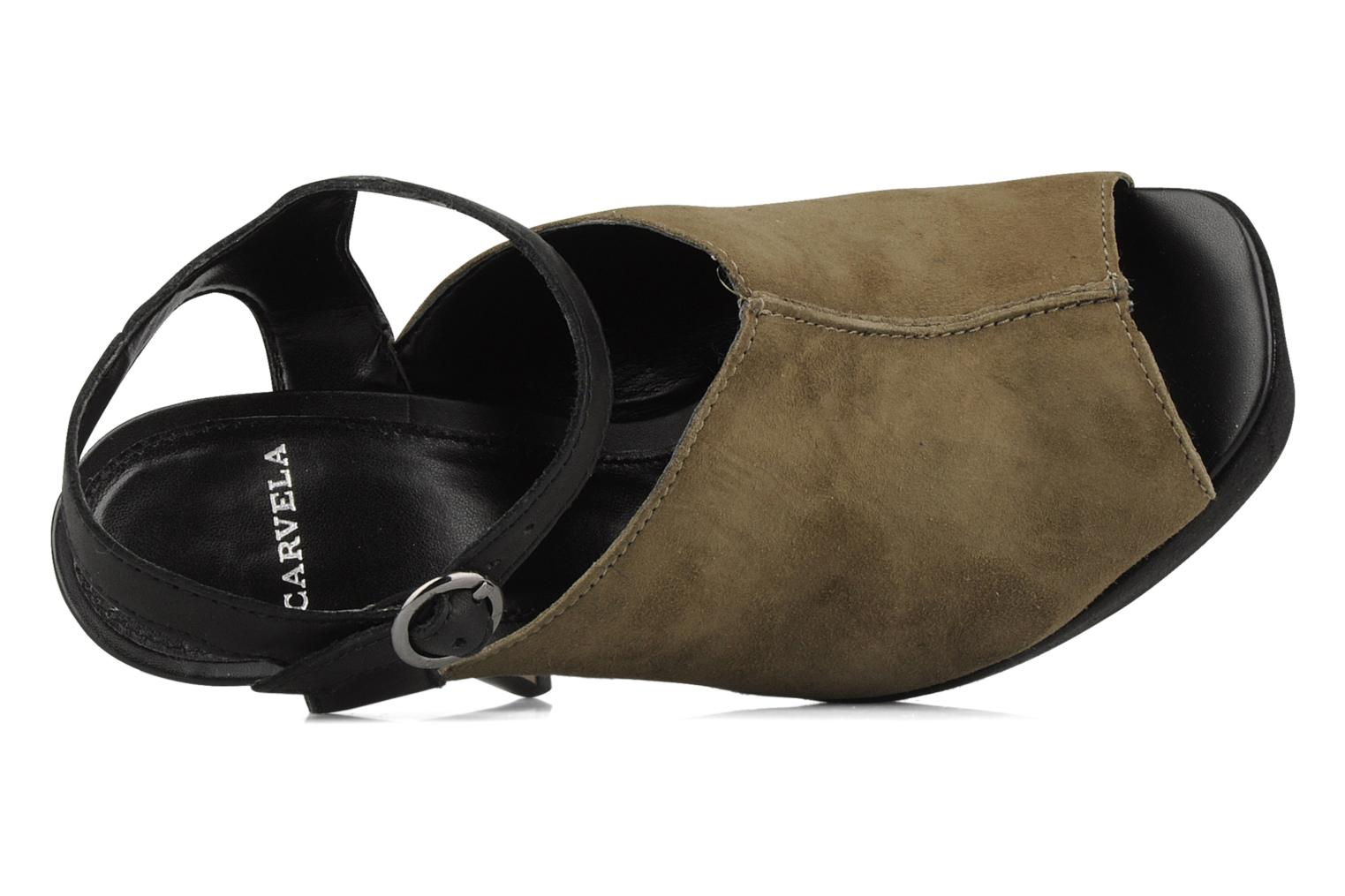 Sandals Carvela Acoustic Green view from the left