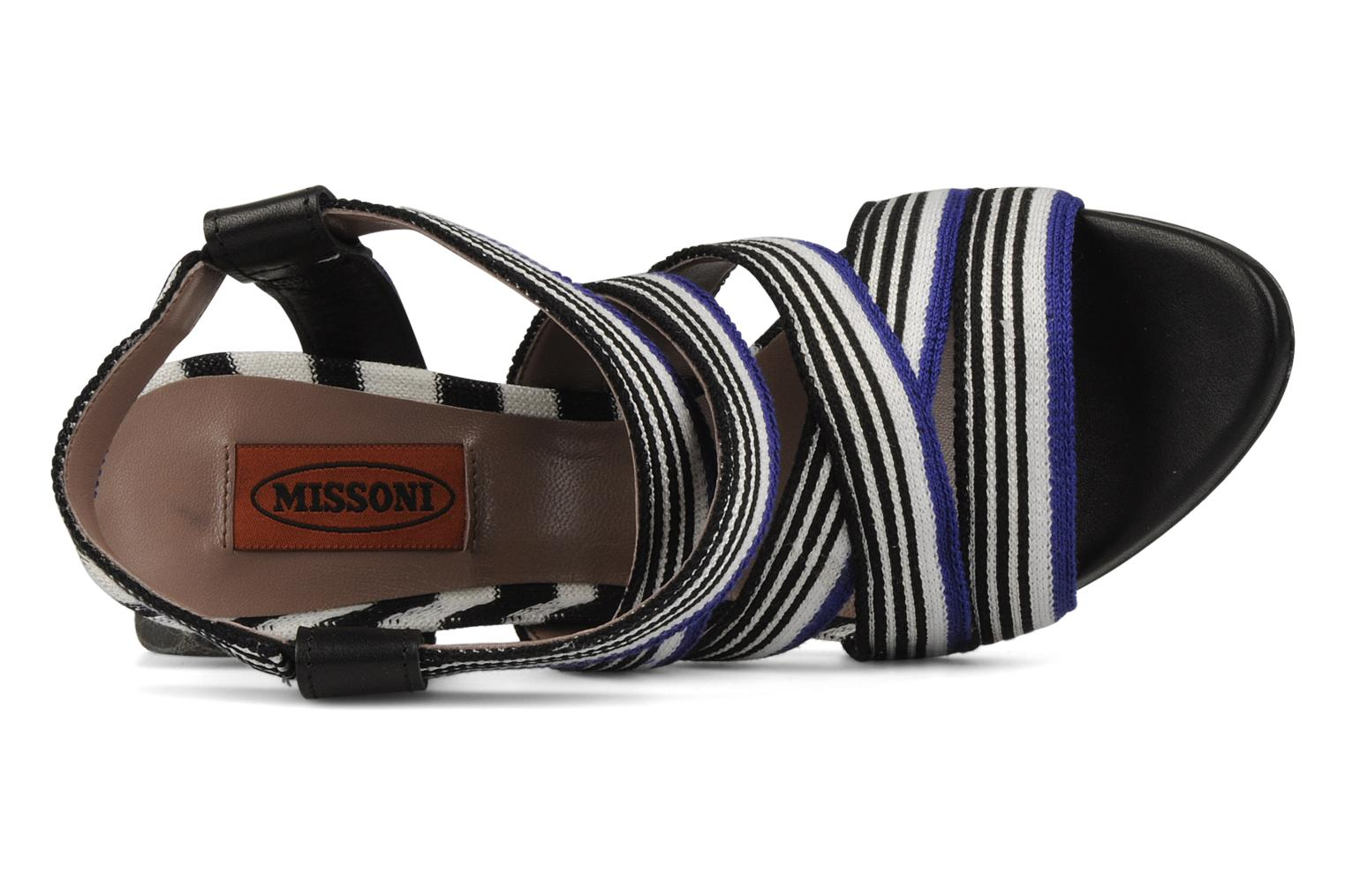 Sandalen Missoni Apollina Blauw links
