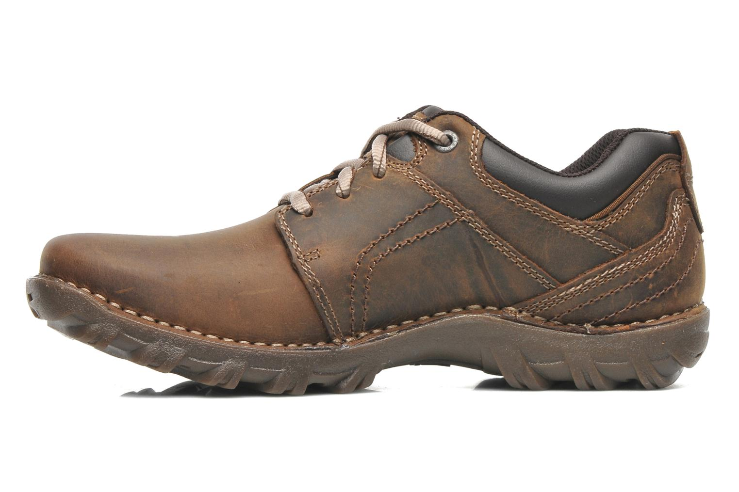Lace-up shoes Caterpillar Emerge Brown front view