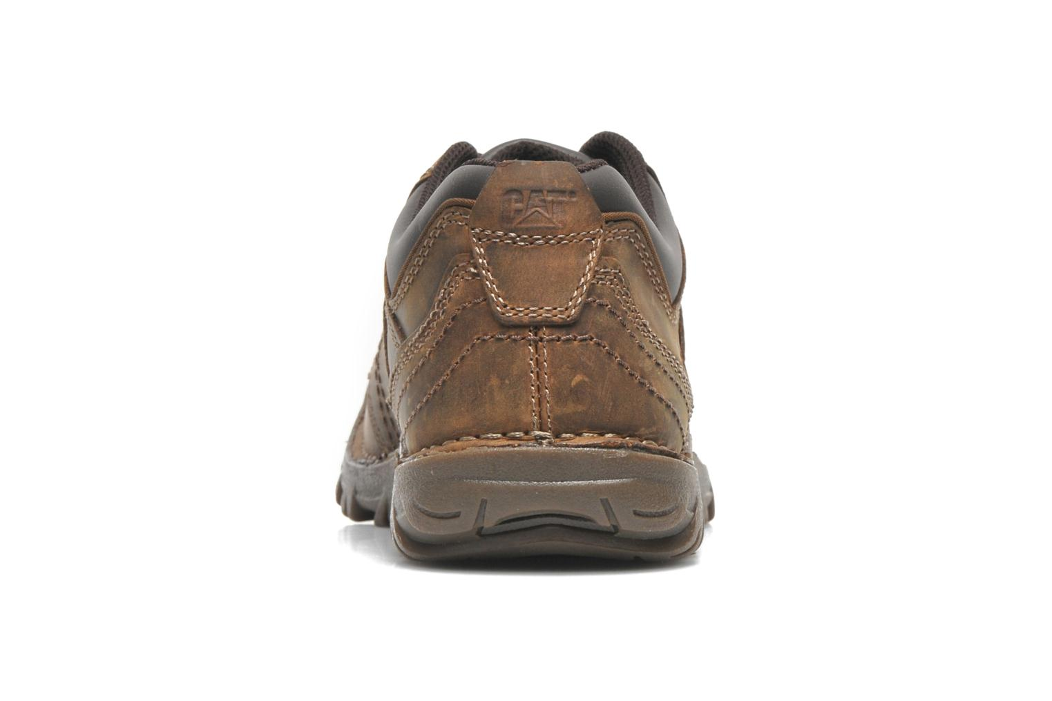 Lace-up shoes Caterpillar Emerge Brown view from the right
