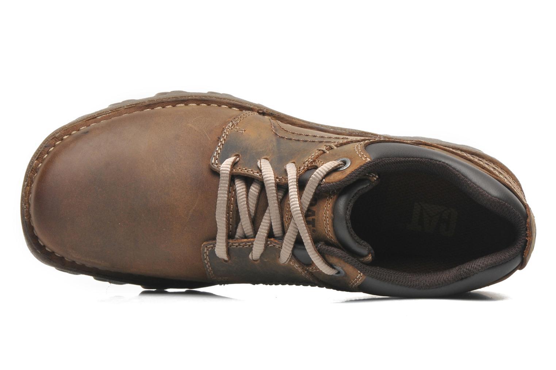 Chaussures à lacets Caterpillar Emerge Marron vue gauche