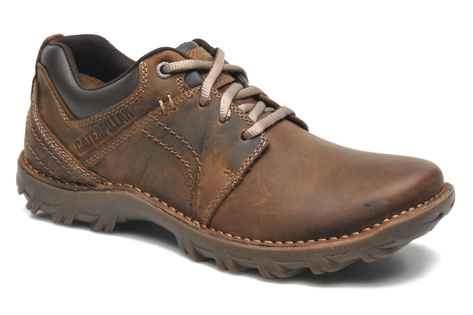 Lace-up shoes Caterpillar Emerge Brown detailed view/ Pair view