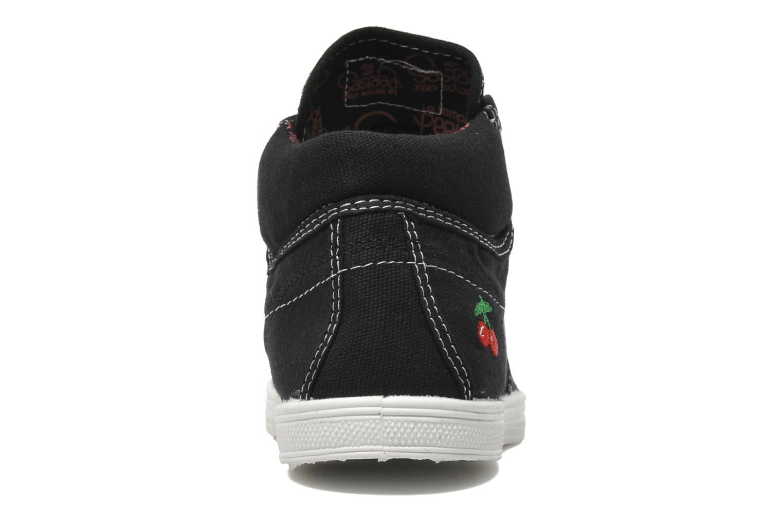 Sneaker Le temps des cerises Basic 03 schwarz ansicht von rechts