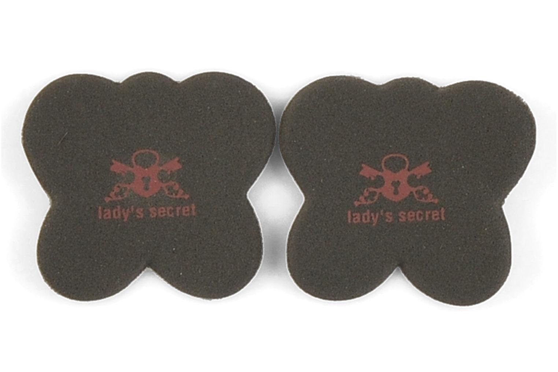 Insoles Lady's Secret No scratch! Non-slip Foot Pillows Black detailed view/ Pair view