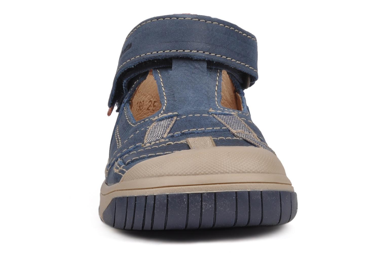 Bottines d'été Babybotte Safari Bleu vue portées chaussures