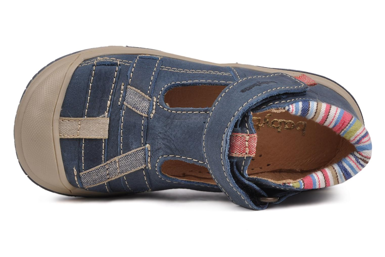 Summer boots Babybotte Safari Blue view from the left