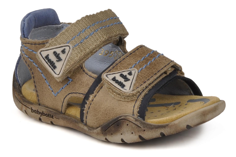 Sandales et nu-pieds Babybotte Tchin Marron vue détail/paire