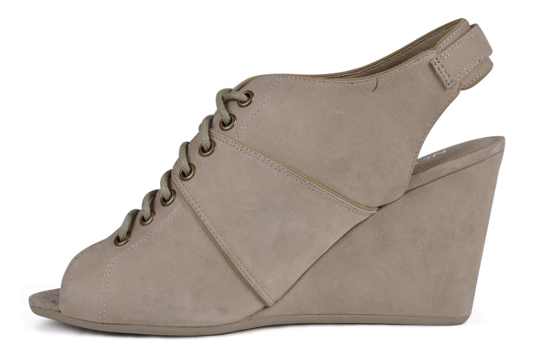 Sandalen No Name Diva open toe grau ansicht von vorne