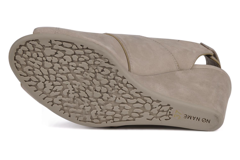 Sandalen No Name Diva open toe grau ansicht von oben