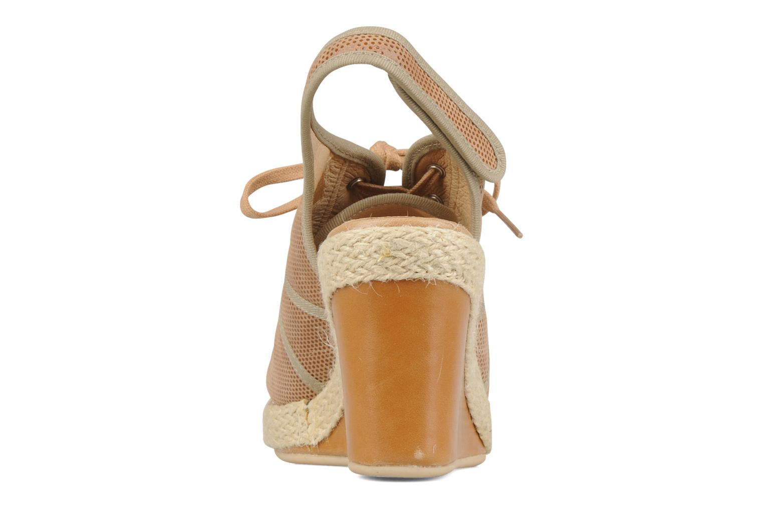 Sandals No Name Malaga tennis city Beige view from the right