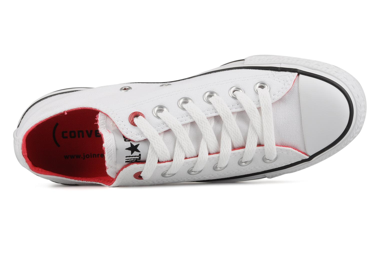 Trainers Converse Chuck taylor all star red i am … ox w White view from the left