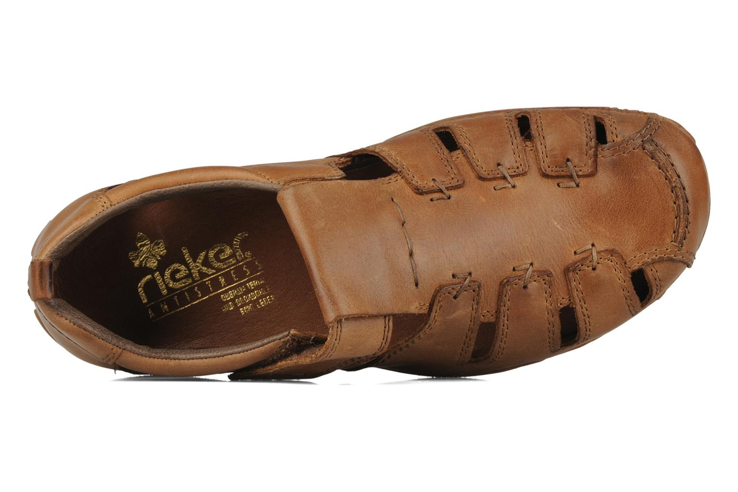 Sandals Rieker Ansgar 05576 Brown view from the left