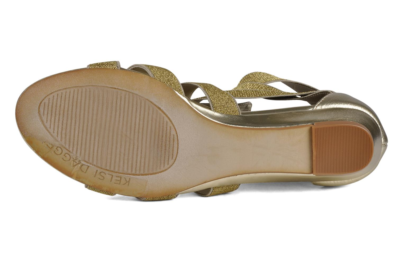 Sandales et nu-pieds Kelsi Dagger Dylana Or et bronze vue haut