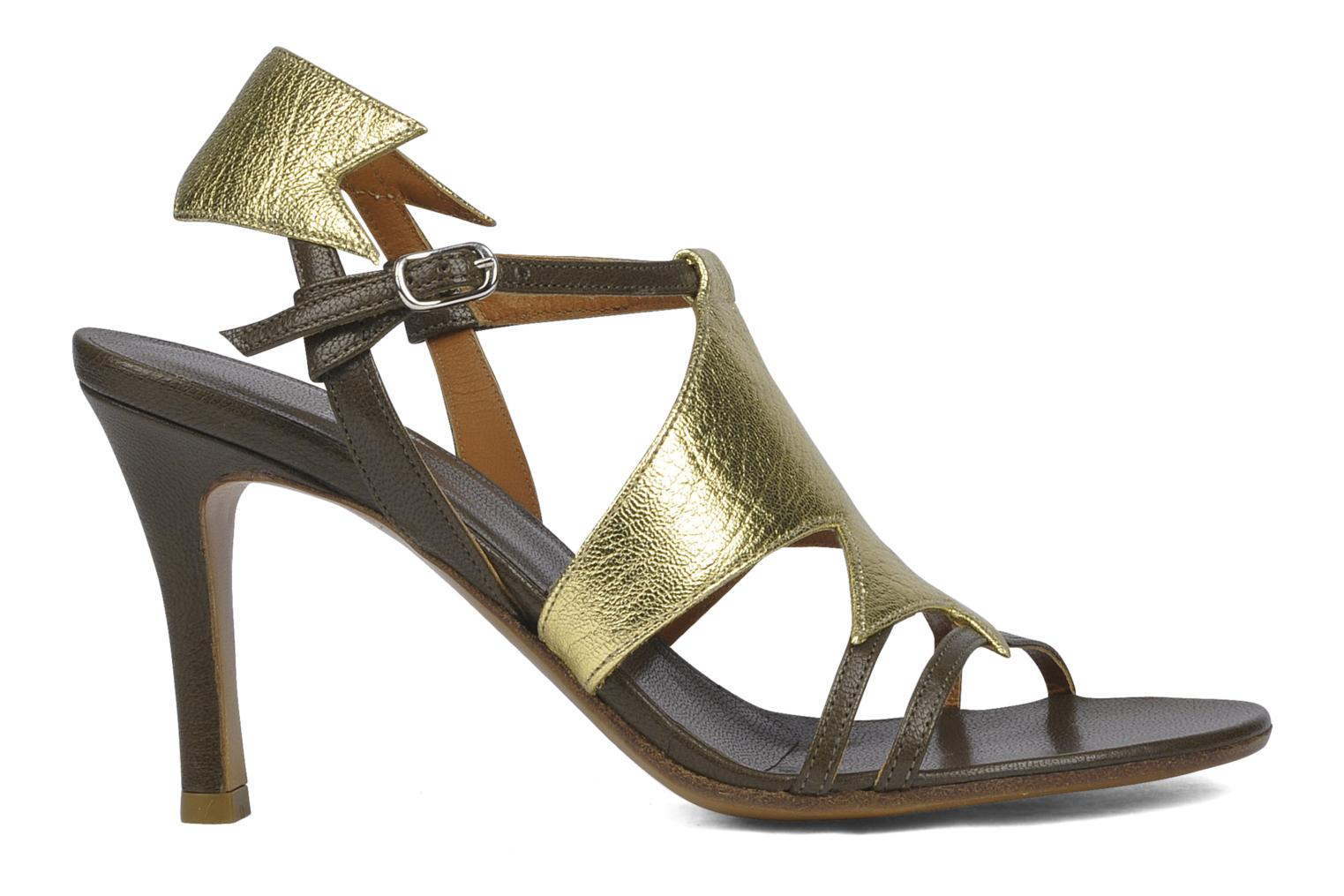 Sandals Michel Perry Themis Bronze and Gold back view