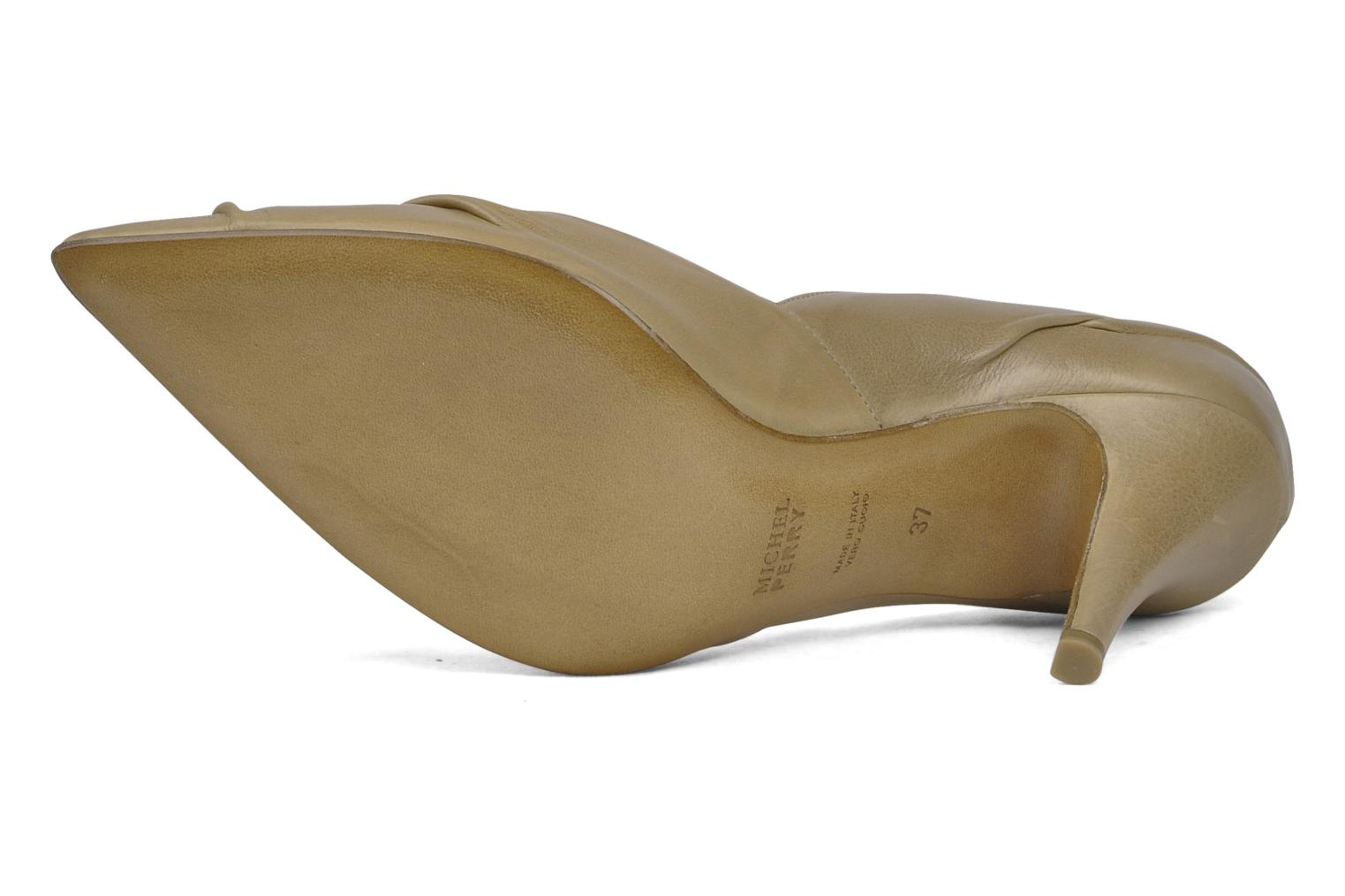High heels Michel Perry Nemesis Beige view from above
