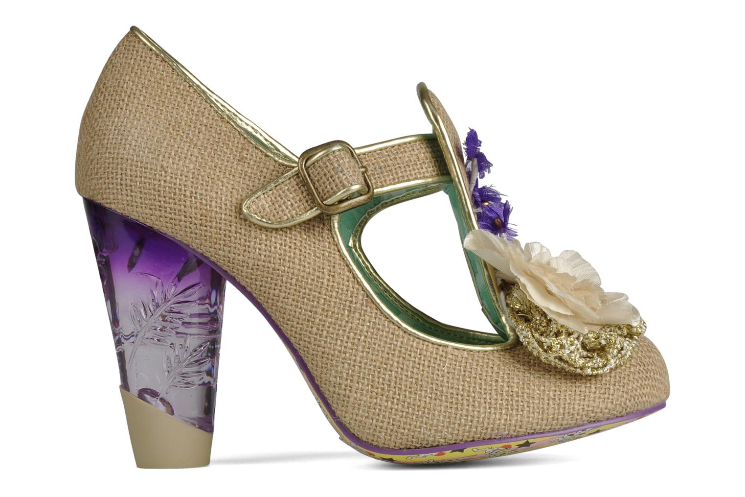 Escarpins Irregular Choice Cant touch this Beige vue derrière