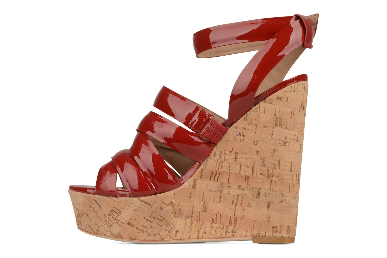 Sandales et nu-pieds Pour La Victoire Jessie Rouge vue face