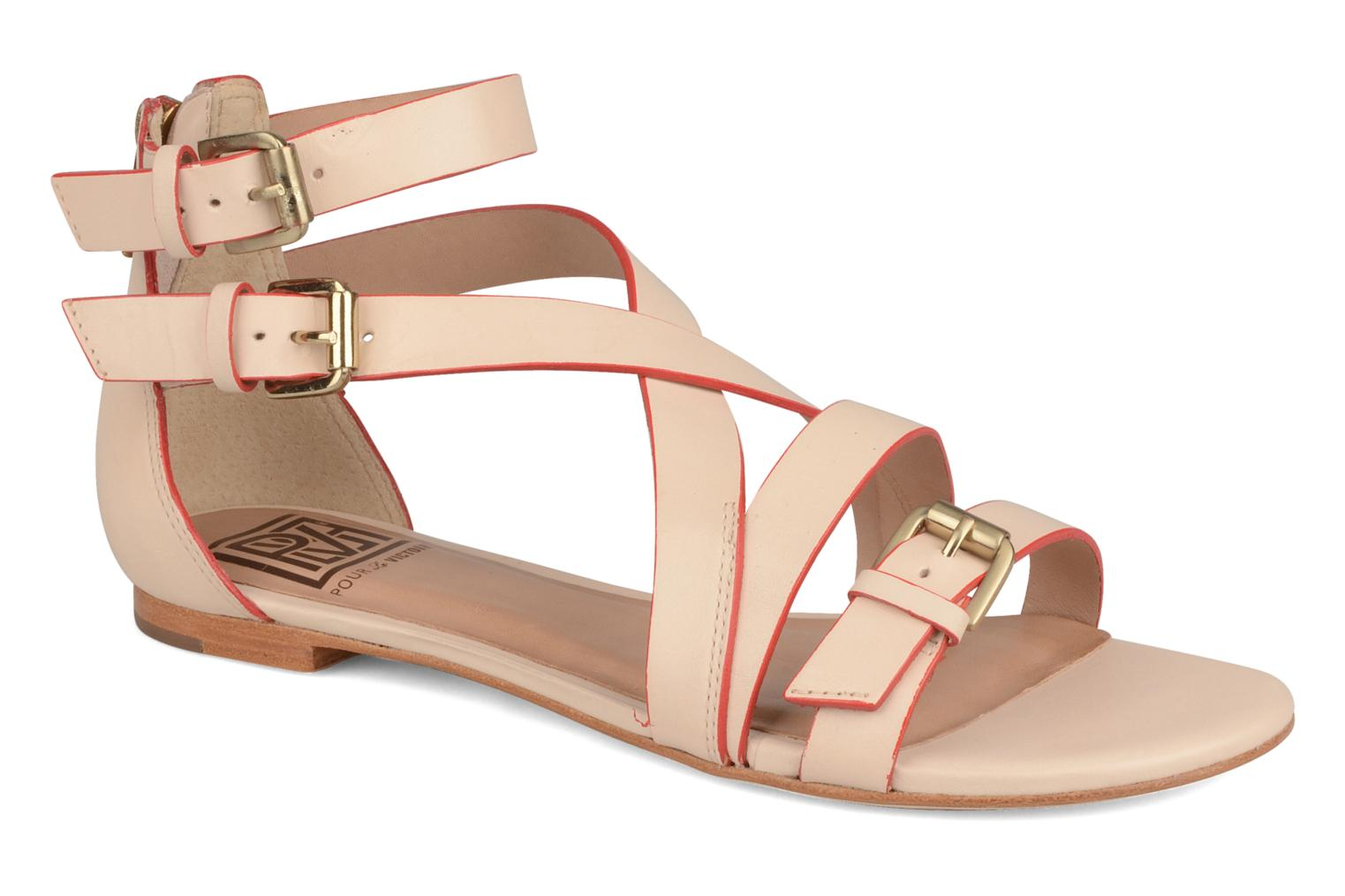 Sandals Pour La Victoire Bryn Beige detailed view/ Pair view
