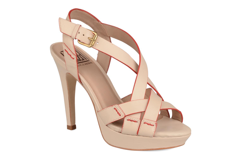 Sandales et nu-pieds Pour La Victoire Abigail Beige vue détail/paire