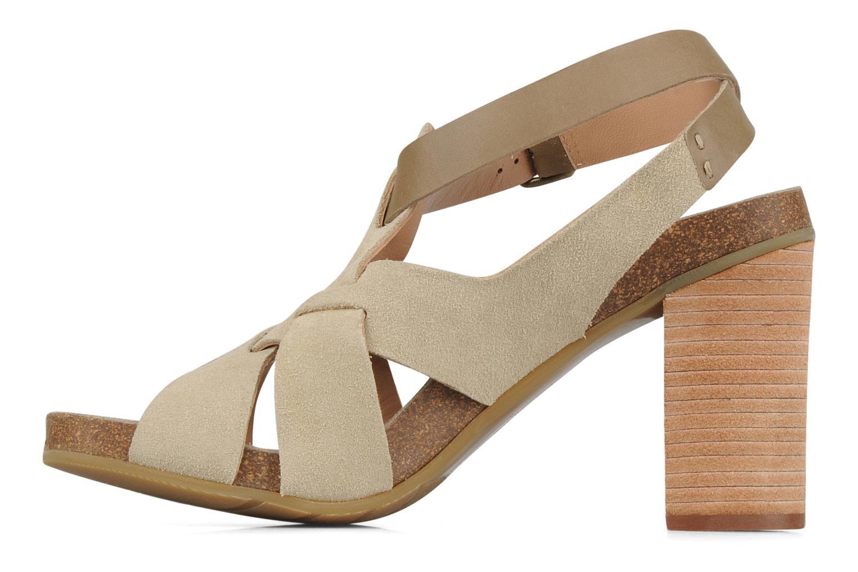 Sandales et nu-pieds See by Chloé Oleggio Beige vue face