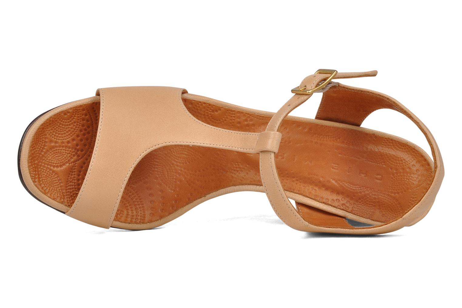 Sandals Chie Mihara Reparto Beige view from the left