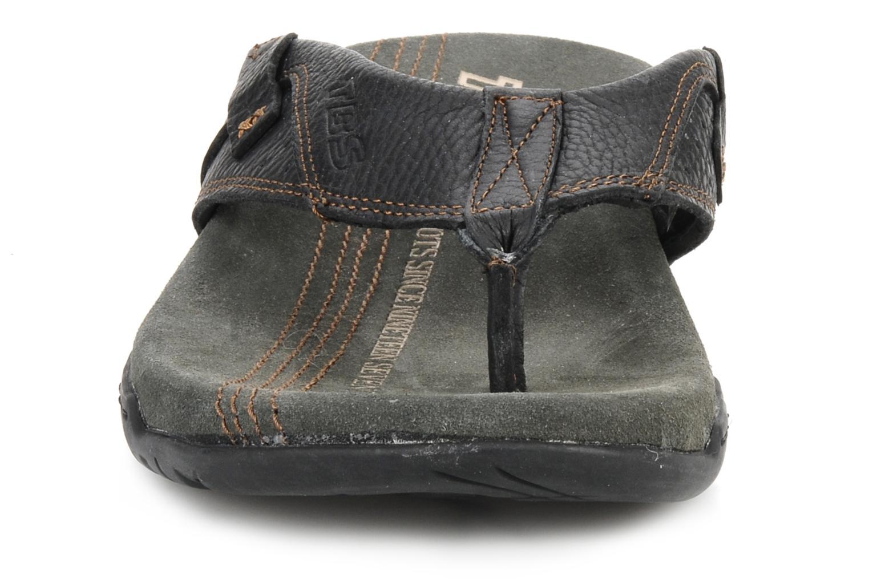 Tongs TBS Unites Noir vue portées chaussures