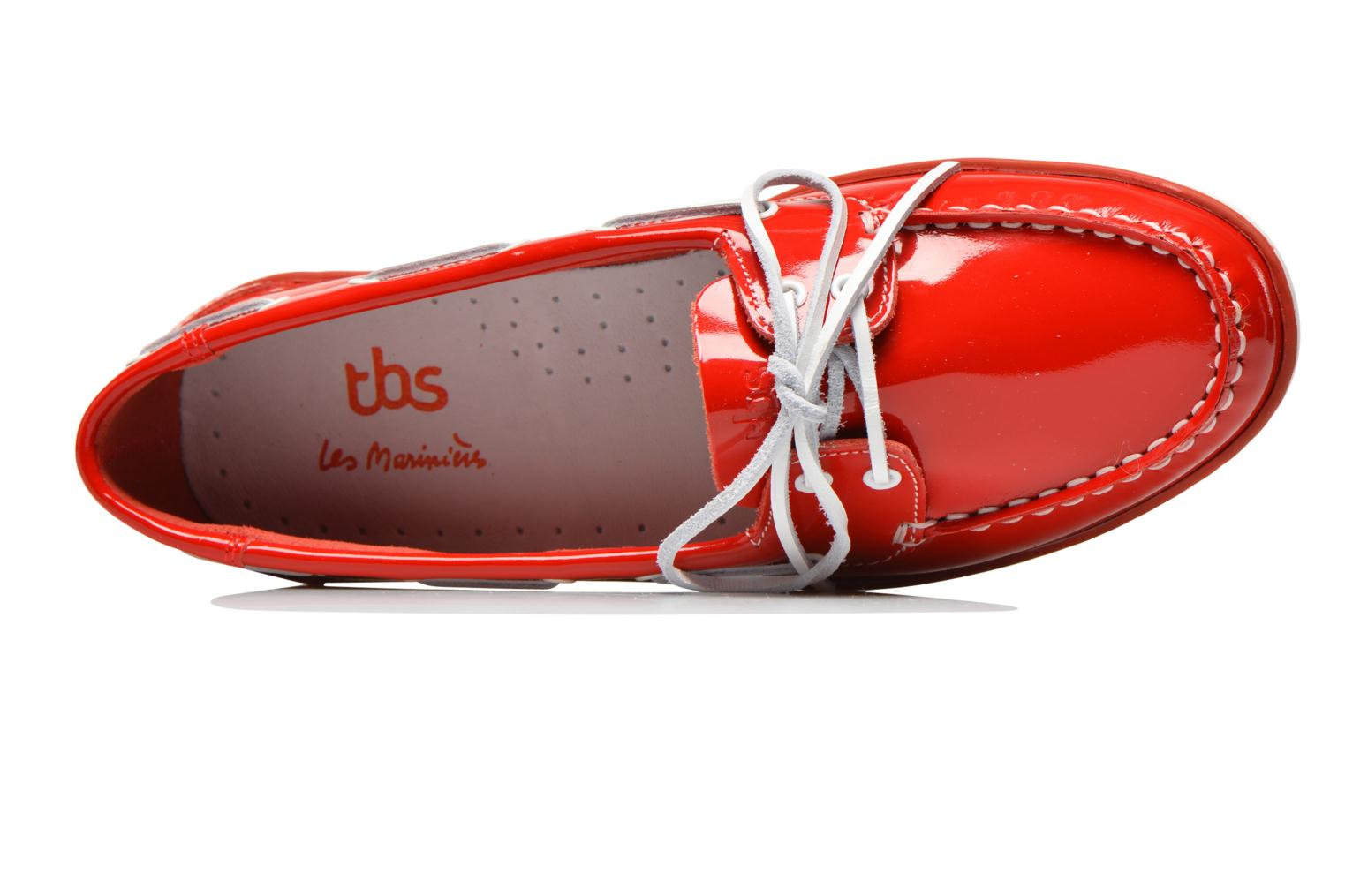 Lace-up shoes TBS Clamer Red view from the left