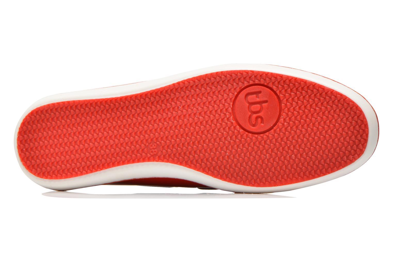 Chaussures à lacets TBS Clamer Rouge vue haut