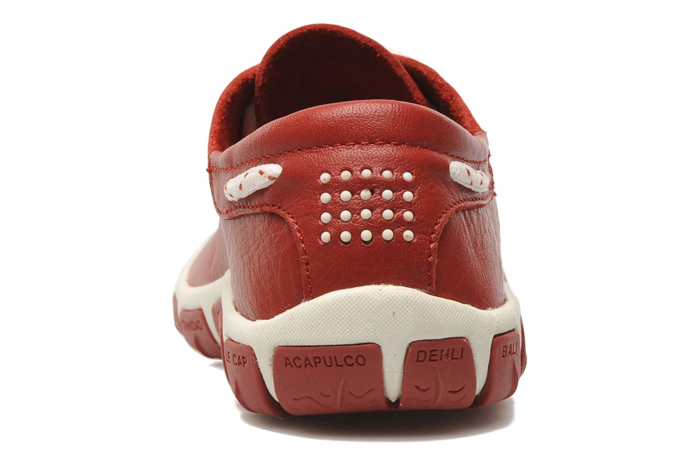Zapatos con cordones TBS Jazaru Rojo vista lateral derecha