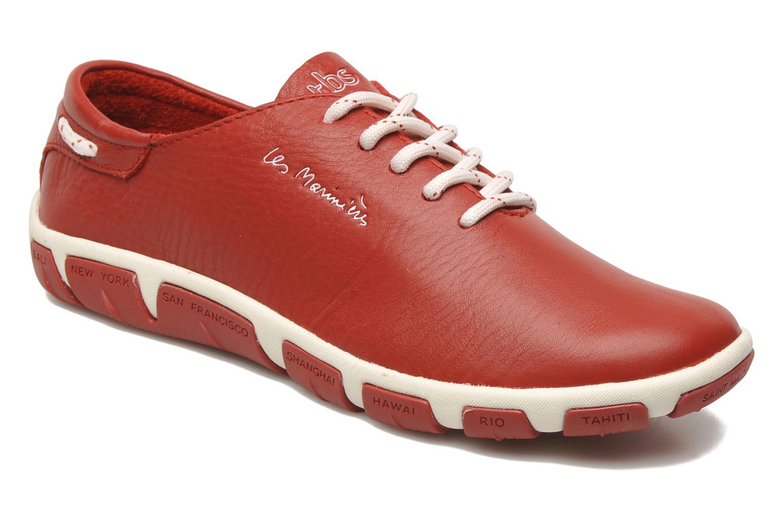 Zapatos con cordones TBS Jazaru Rojo vista de detalle / par