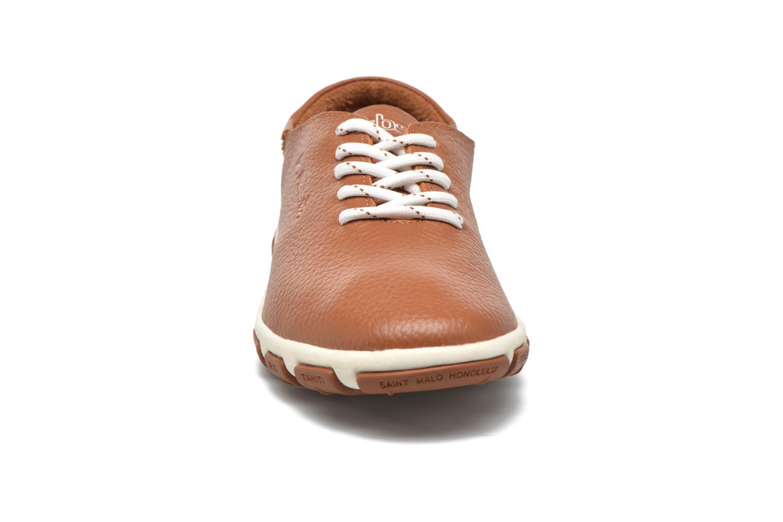 Scarpe con lacci TBS Jazaru Marrone modello indossato