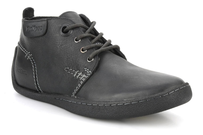 Chaussures à lacets Kickers Indiana Noir vue détail/paire