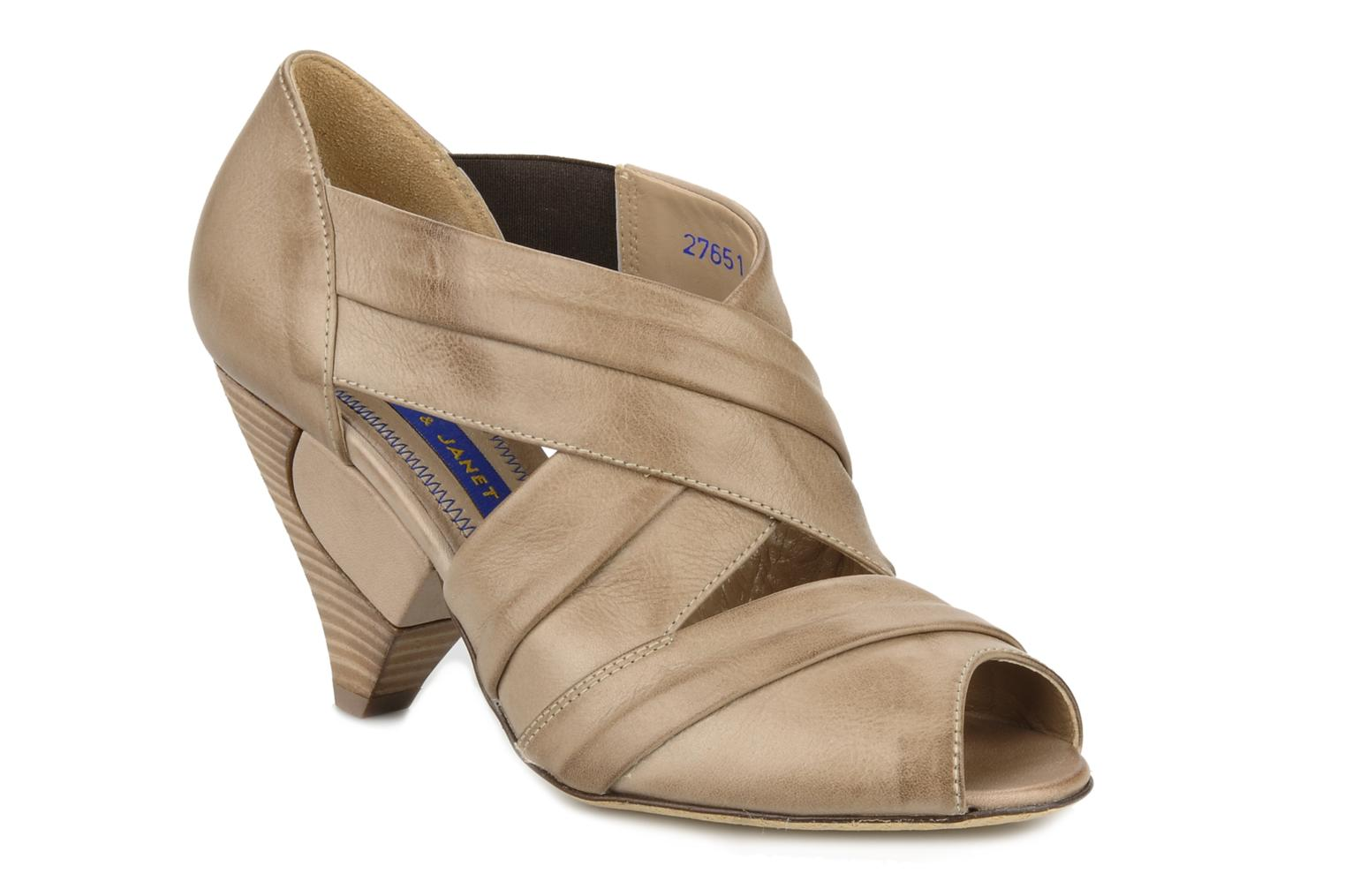 Sandals Janet & Janet Vitti Beige detailed view/ Pair view