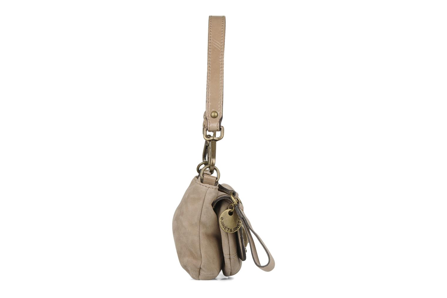 Handbags Janet & Janet Ticha Beige view from the right