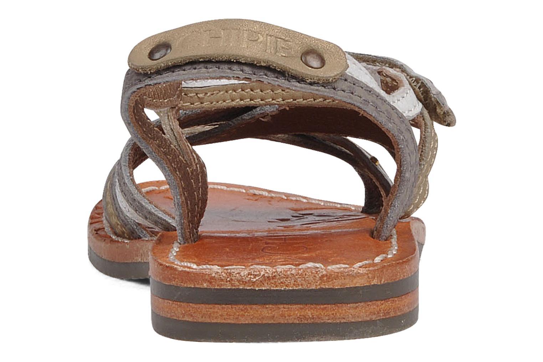 Sandales et nu-pieds chipie bis Savana Gris vue droite