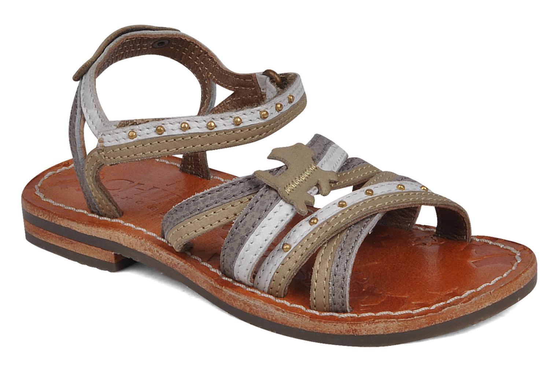 Sandales et nu-pieds chipie bis Savana Gris vue détail/paire