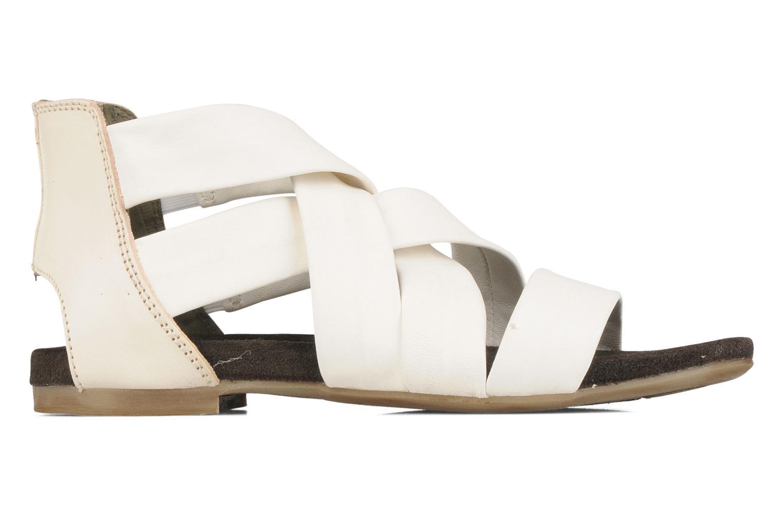 Sandales et nu-pieds Manas Lazos Blanc vue derrière