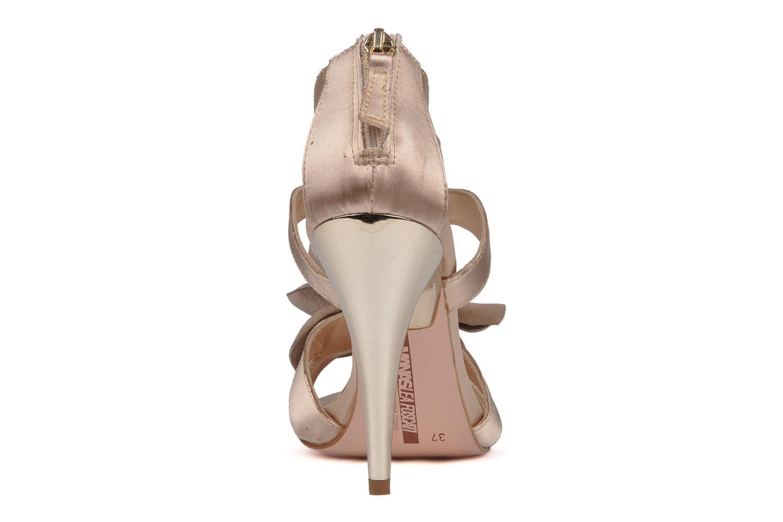 Sandales et nu-pieds Manas Floralia Rose vue droite